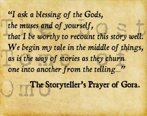 The Storyteller's Prayer of Gora