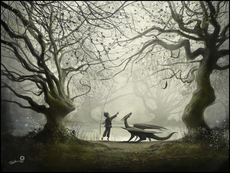 The Boy and His Dragon by Andy Fairhurst