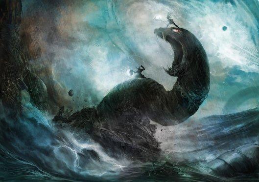 Thor vs Yomungund by Supasit Sontayanont.