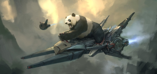 Panda Rider by Steve Wang