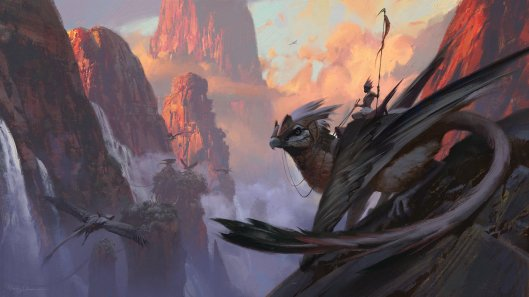 Gryphon Lair by Sung Choi. Click here for more of the artist's work!