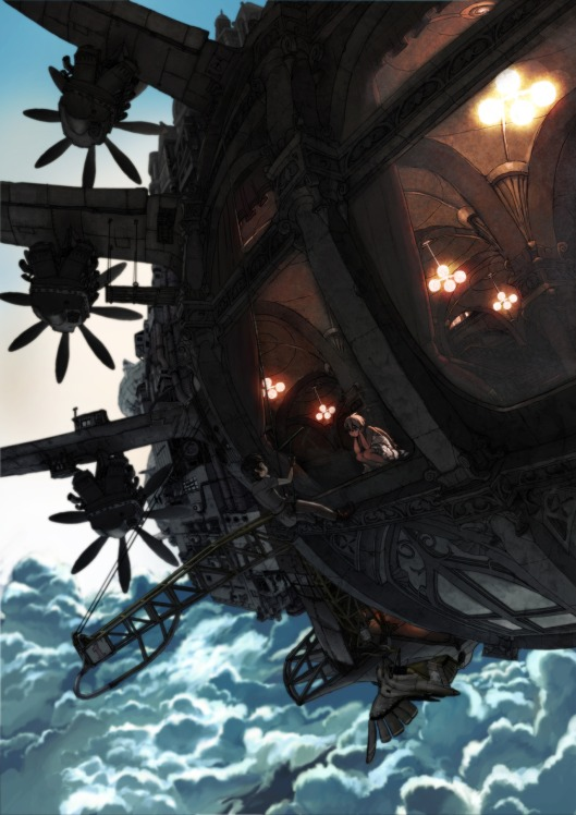 """""""Airship"""" by Rias Coast. Click here for more of the artist's work!"""