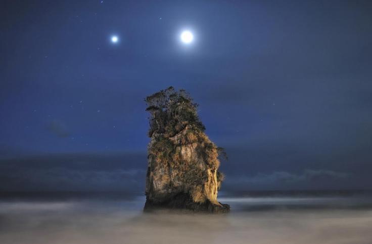'The Moon & Jupiter Over Kitaibaraki' by Dr. Akira Takaue