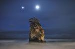 The Moon & Jupiter Over Kitaibaraki_Sm