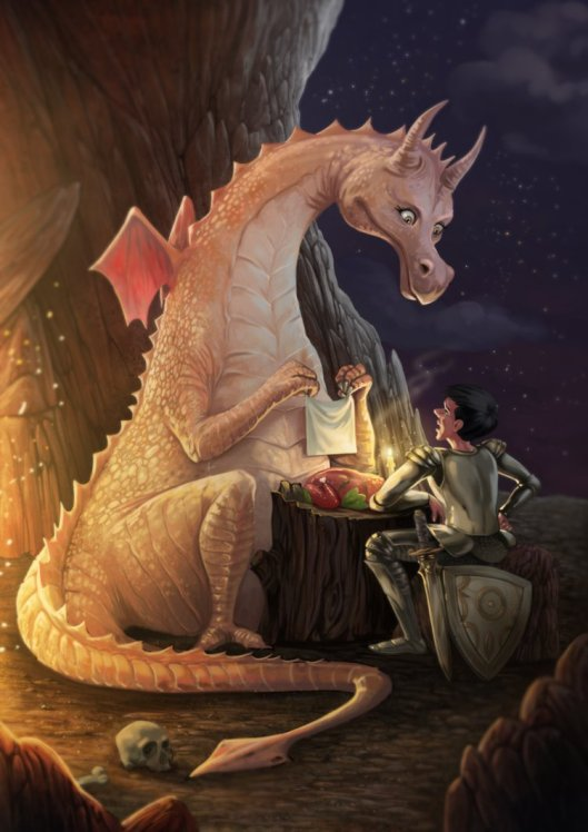 Unusual Dinner by Raghavendra Kamath. Click here for more of the artist's work!