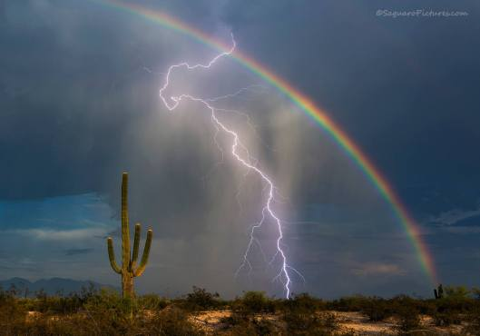 Rainbow Lightning by Greg McCown. Photograph taken in southern Arizona. Click here for more of the photographer's work!