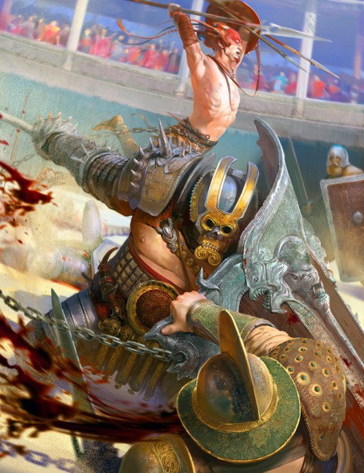 Gladiators by Alexandr Komarov. Click here for more of the artist's work!!