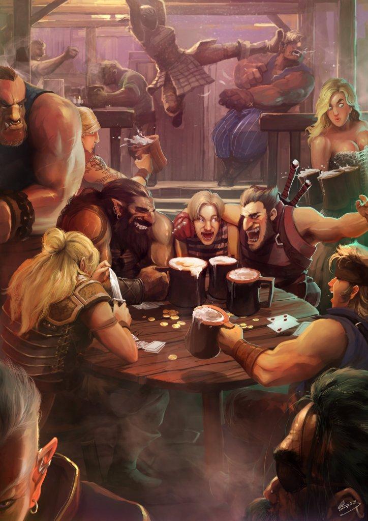 Tavern Hijinks by Lap Pun Cheung.