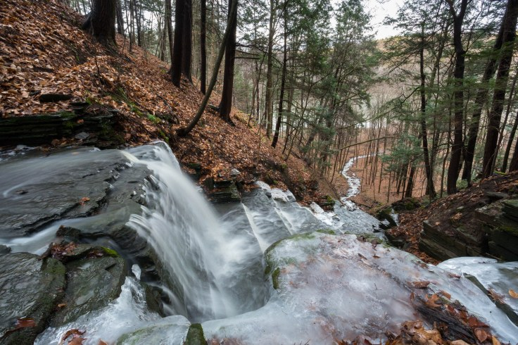 A Small Tributary in Ithaca, New York by 'jump91'
