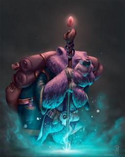 Magician Bear by Jules Dubost