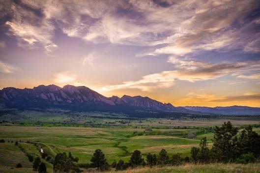 Sunset over Boulder, Colorado by Nate Luebbe.