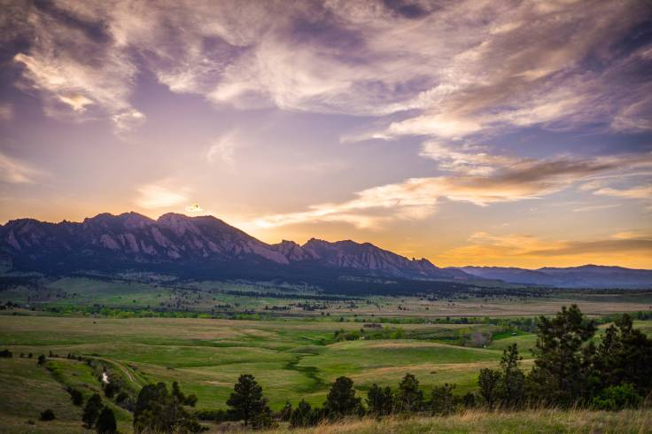 Sunset over Boulder, Colorado by Nate Luebbe.