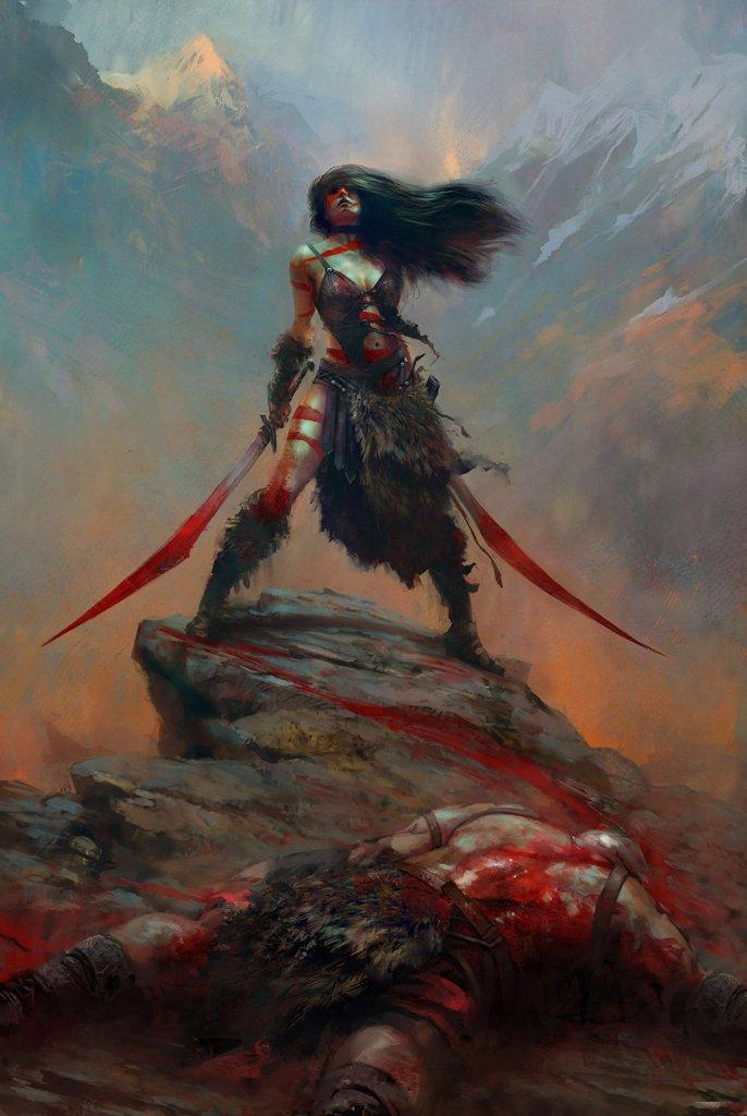 Barbarian Chick by Maciej Kuciara