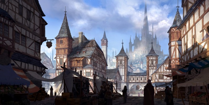 Medieval City by Jung Yeoll Kim.
