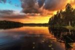 Burning Lake by Thomas Drouault