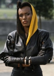 Grace Jones as May Day in A View to a Kill (1985).