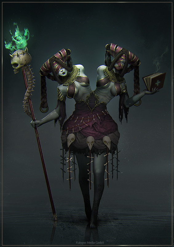 Undead Twin Mage by Elisavet Theodosiou