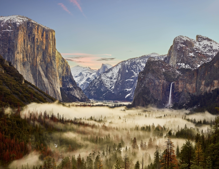 'Sunrise Over a Winter Storm in Yosemite' by Benjamin Sloss