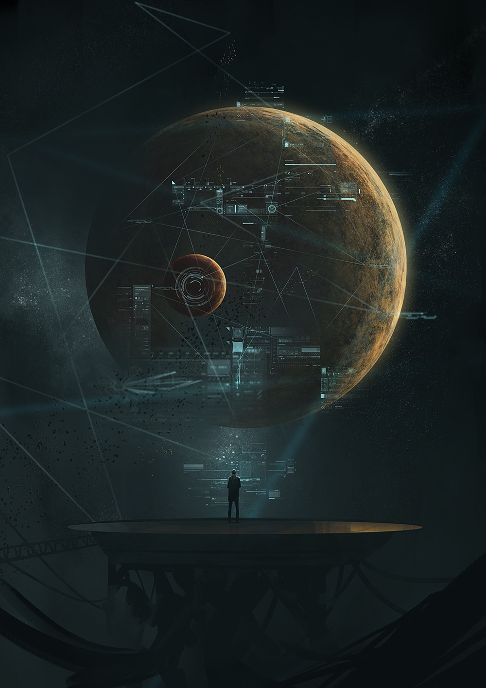 Science Fiction Art: Command Deck, by Krystian Biskup