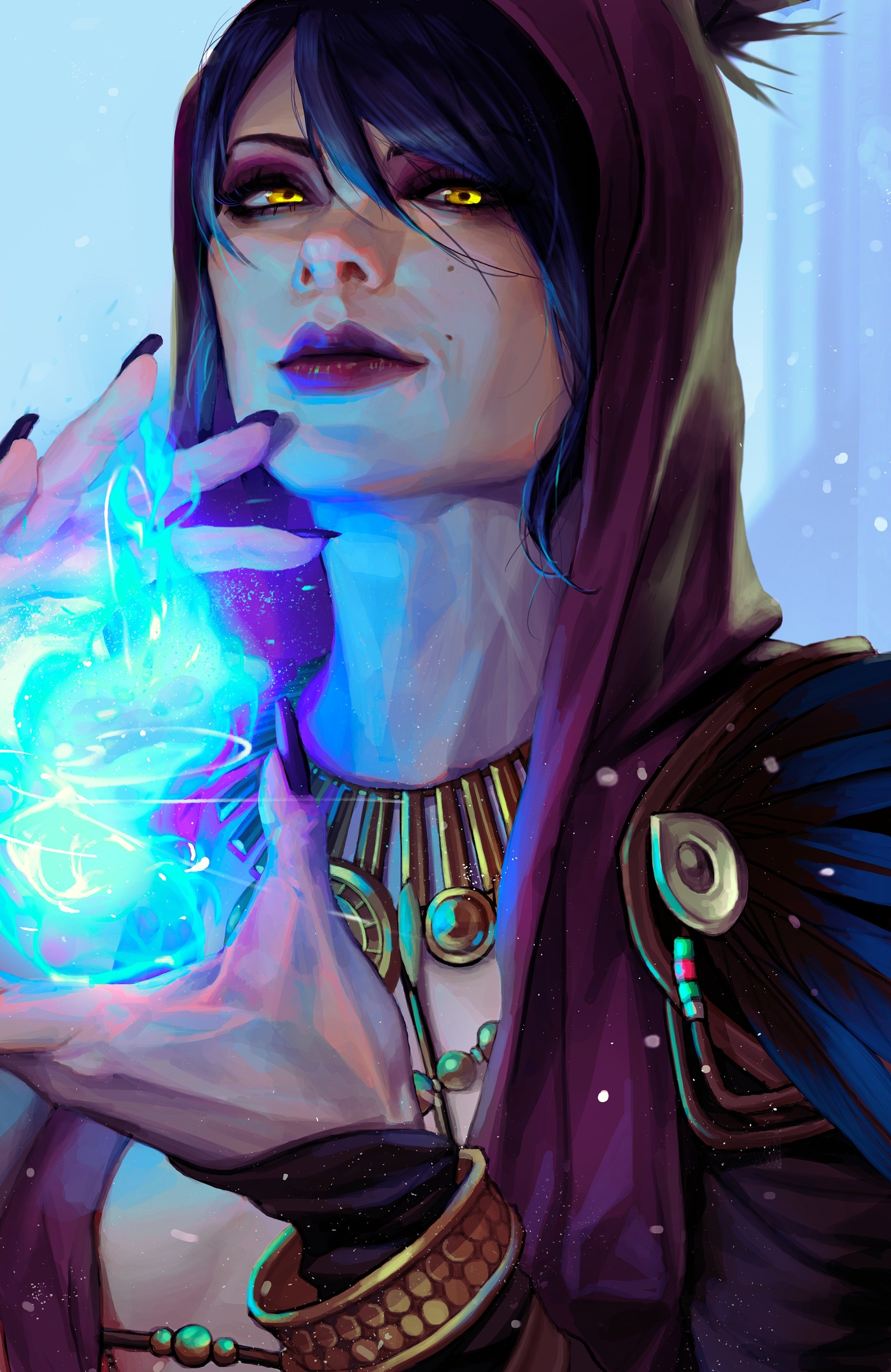 Fantasy Art: Morrigan, by Kim Rukiana