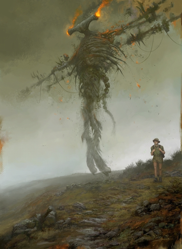 Science Fiction Art: Dreams of Pan, by Simon Dominic