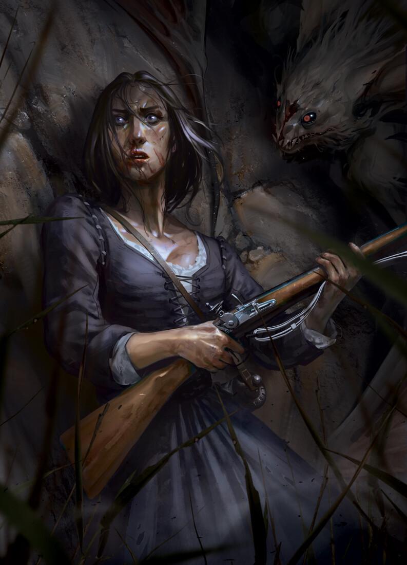 Art Macabre: Hunted, by Oliver Odmark
