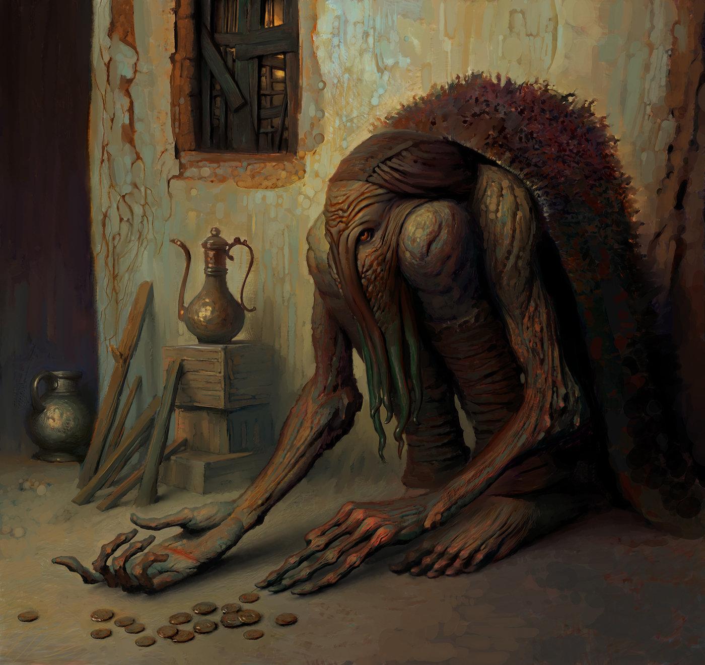 Fantasy Art: Beggar, by Andrey Surnov
