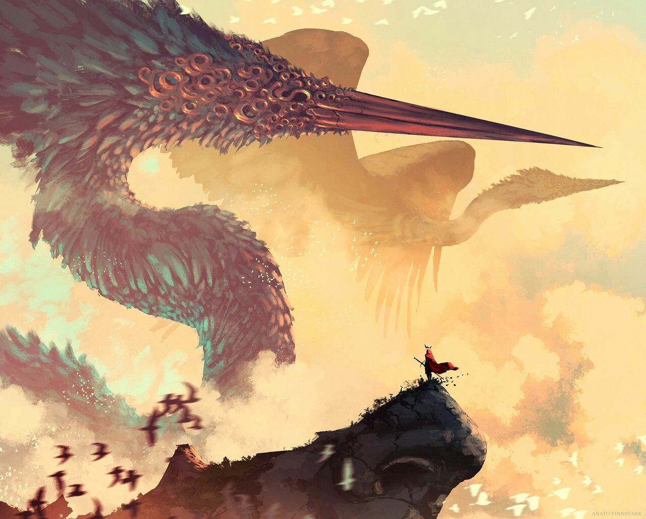 Fantasy Art: The Great Celestial, by Anato Finnstark